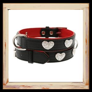 Collier Chihuahua noir et rouge
