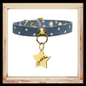 Collier pour Chihuahua motifs étoiles