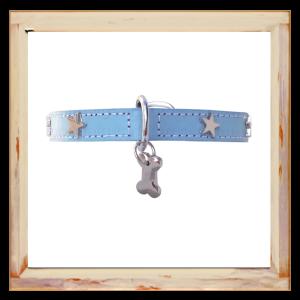 Collier petit Chihuahua bleu avec étoiles