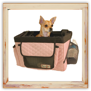 Siège de voiture rose pour Chihuahua