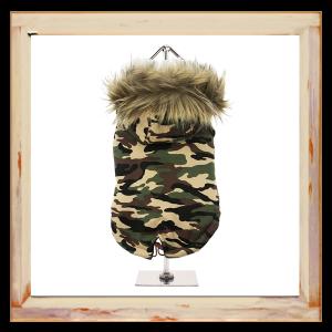 Doudoune pour chien camouflage